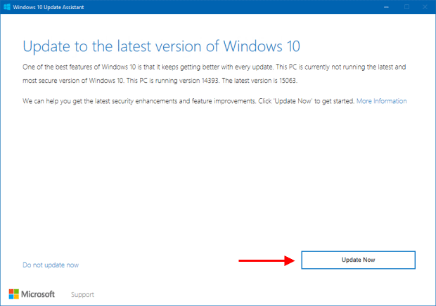 Install Windows 10 Update