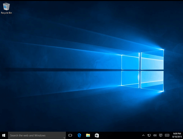 Windows 10 is installed in virtual machine
