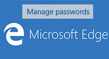 modify saved password in microsoft edge