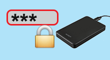 password protect external hard drive
