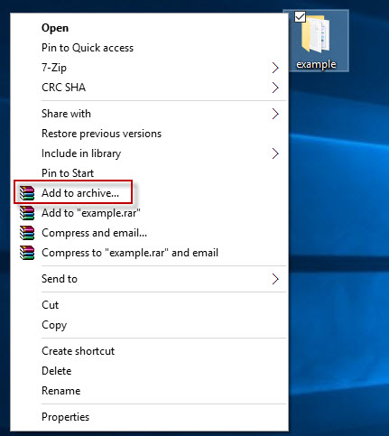 Password Protect a ZIP File in Windows 10 with 7-Zip/WinRAR