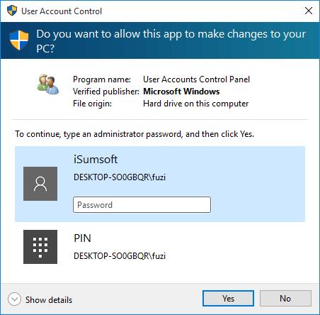 windows 10 no username and password