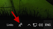 remove people icon from Windows 10 taskbar