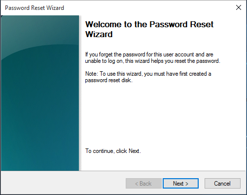 Follow the wizard to change or remove password