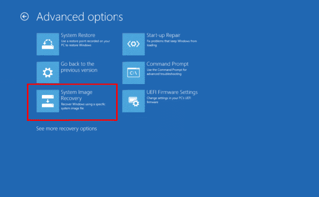 windows 10 how to create windows restore for a folder