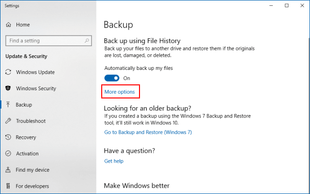 2 Ways to Restore System Image and Files Backups in Windows 10