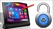 unlock Lenovo Yoga tablet password