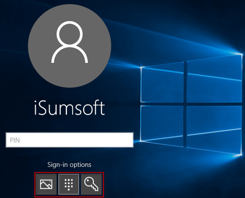 Unlock Windows 10 with PIN code or Picture password