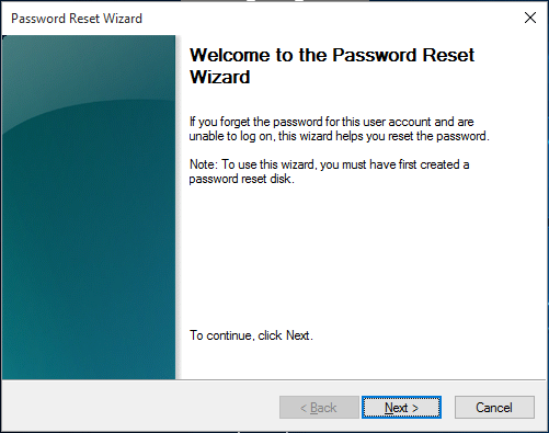 Follow the wizard to unlock admin password