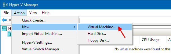 Make a new virtual machine