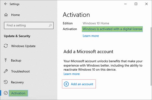 Get Windows 10 Digital Licenses Linked to Microsoft Accounts