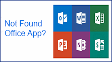 not found office apps in Windows 10