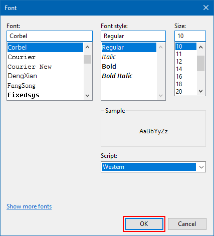 Format text in Text Document