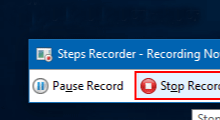 use steps recorder in Windows 10