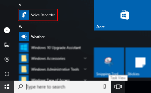 How to Open and Use Voice Recorder in Windows 10