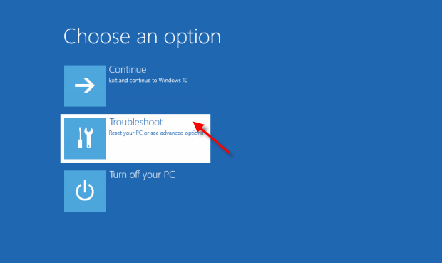 windows 10 troubleshoot reset your pc or see advanced options