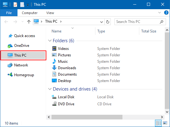 Set File Explorer launch to This PC