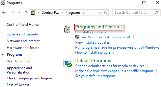 hit programs and features link