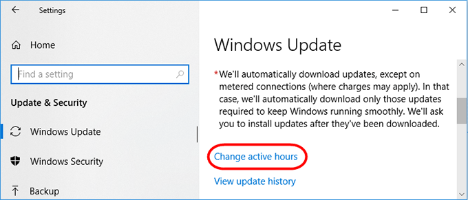 change active hours