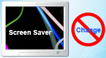 prevent user from changing screen saver