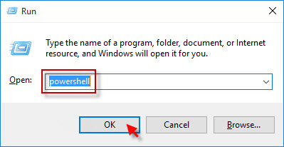 Open the PowerShell window