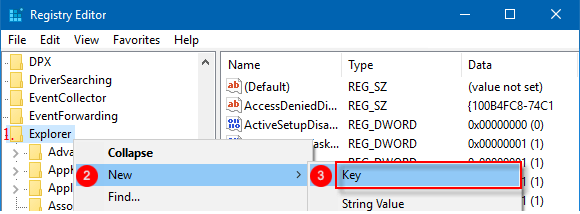 Create Shell icons registry key