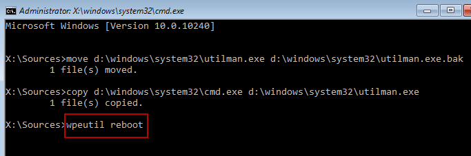 how to reset windows 10 in boot