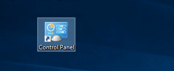 Created Control Panel shortcut