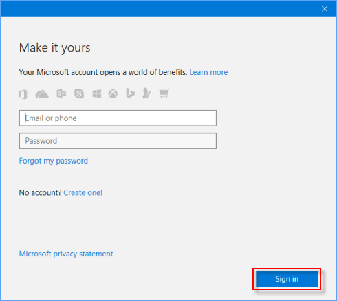 activation add microsoft account