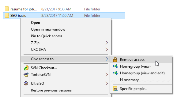 windows 10 remove network share