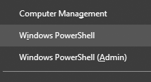 switch Command Prompt and Powershell in Win+X menu