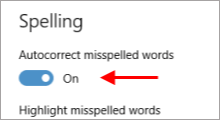 turn off autocorrect spell checker in Windows 10
