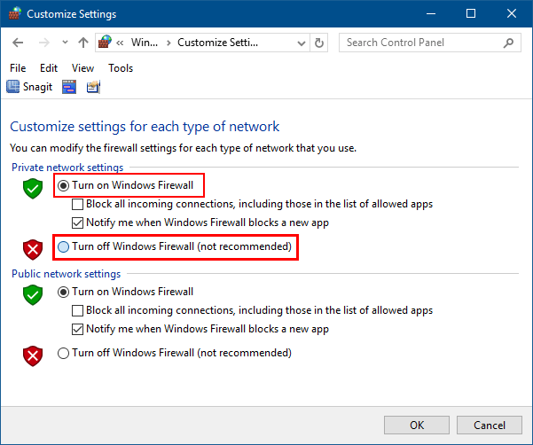 How to Turn On or Off Windows Defender Firewall Protection in Windows 10