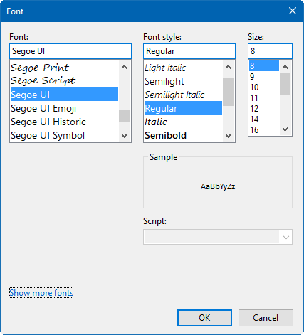 Change Fonts in Windows Registry