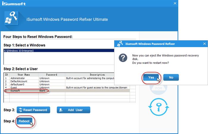 Reset Windows 10 Laptop Forgotten Password without Data Loss