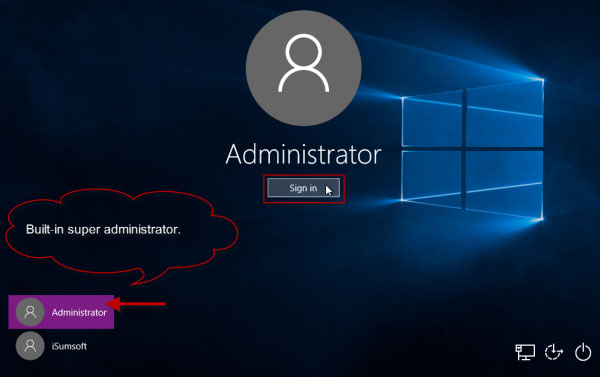 how to get admin password windows 10