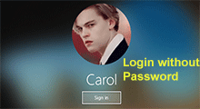 log in to Windows 10 without password
