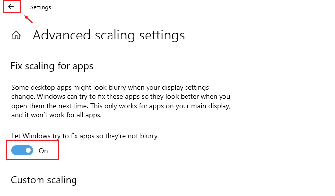 Fix blurry apps automatically