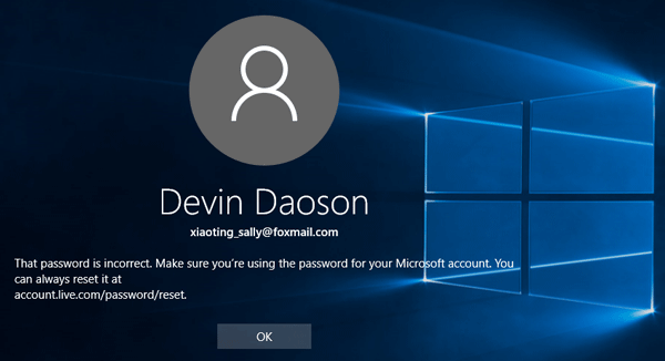 Windows 10 Says Password Incorrect after Sleep, How to Log on