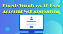 Windows 10 user account not appearing