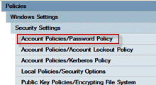 Change Password Policy on Windows Server 2008 R2