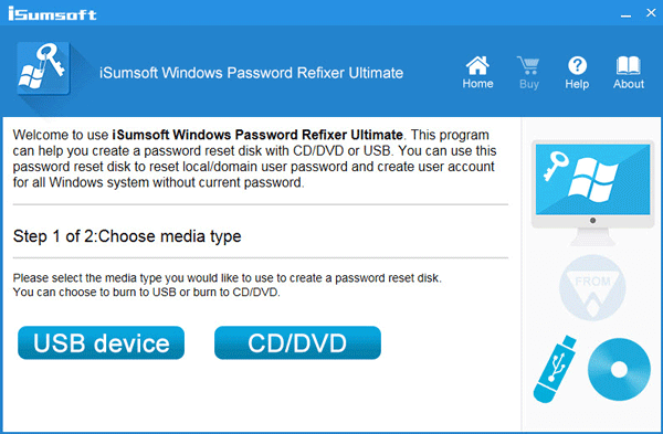 Burn Windows Password Refixer