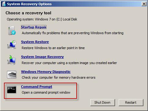 win7 password reset disk