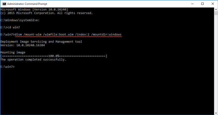 Mount boot vim to windows