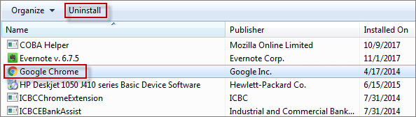 How to Install and Uninstall Google Chrome in Windows 7
