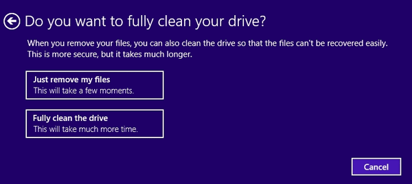 Clean your drive
