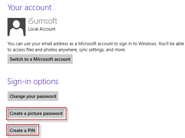 Add sign-in options for Surface account