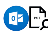 look up outlook pst file location