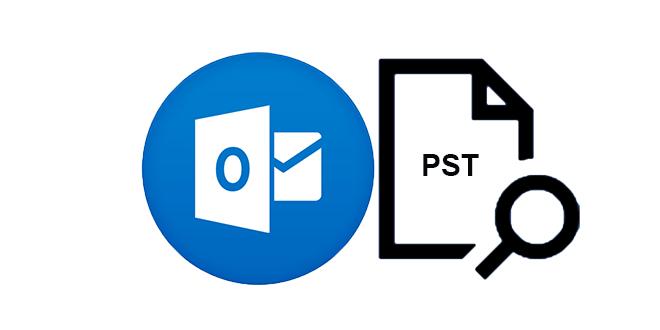 buscar la ubicación del archivo pst de Outlook
