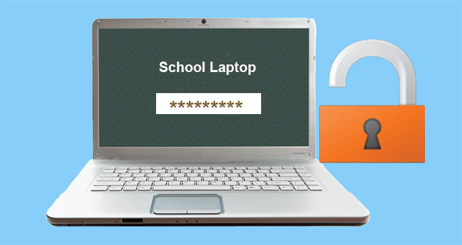 unlock school laptop